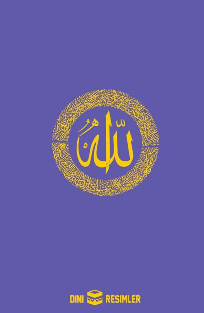 Allah yazılı resimler
